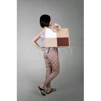 Fashion Shopping Bags with Wood Handle