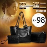 Renner Poetry Luxury 3in1 Crocodile Handbag