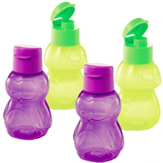 Tupperware Frog & Penguin Eco Bottles 4 x 350ml