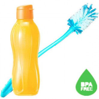 Tupperware Eco Bottle Flip Top with Brush