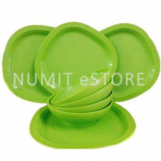 Tupperware Blossom Microwaveable Bowls 4x600ml and 4 Plates