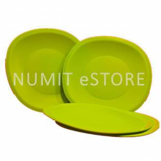 Tupperware 4 x Blossom Microwaveable Plates