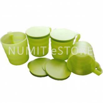 Tupperware Blossom Mugs and Seals 4x350ml