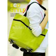 FOLD-ABLE SHOPPING TROLLEY BAG CART WHEEL CARRYING BAG POUCH 购物拉车包
