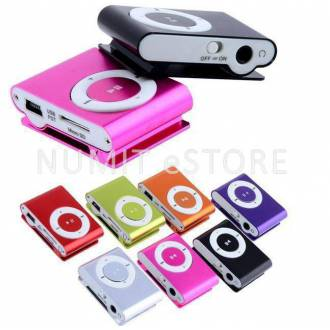 Mini Small Clip Audio Music MP3 Player With Earphone + USB Cable Bundle Kit