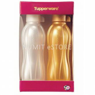 Golden Silver Tupperware Limited Release BPA FREE Eco Bottle 2X500ml (FREE TUPPERWARE MEMEBRSHIP worth RM74.20)