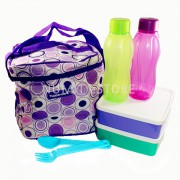 Take N Go Tupperware Lunch Box + Eco Bottle+ cutlery set with BAG