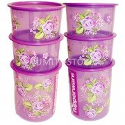 Tupperware One Touch Airtight Royal Rose (6 PCS) SUPER SAVING SET by NUMIT