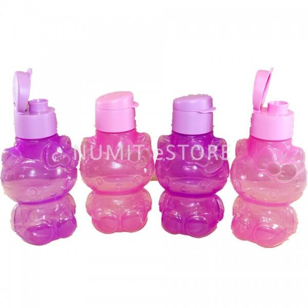 tupperware hello kitty bpa free eco bottles 4x425ml pink purple set. Black Bedroom Furniture Sets. Home Design Ideas