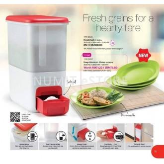 Tupperware Rice Smart 10kg + FREE 4 Deep Blossom Plates 390ml