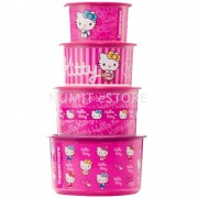 Tupperware Limited Edition HELLO KITTY One Touch Airtight 4pcs Set - NUMIT