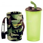 TUPPERWARE HIGH HANDOLIER 1.5L GREEN WITH ARMY POUCH - NUMIT