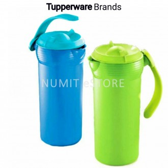Tupperware Twist and Pour Set 2x1.1L Blue Green - NUMIT