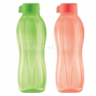 Tupperware Eco Bottle 2 x 500ml Peach Green