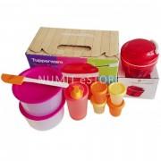 Tupperware 1xTurbo Chopper + 2xOne touch Topper +1xstor keeper + 4xmidgets + 1xspatula