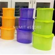 Tupperware Colourful Snack N Stack 9 pcs Set (3x2.4L +3X1.1L+3X1.7L)