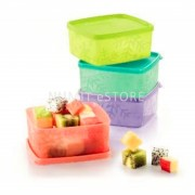 Tupperware Snowflake Square Round 4 x 400ml
