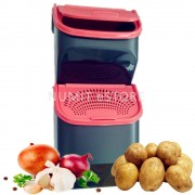 Tupperware Onion Ginger Potato Garlic Keeper 2PC (1X3L +1X5.5L)