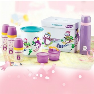 Tupperware Twinkle Baby Bottles One Touch Flask FULL MOON Hamper GIFT SET -NUMIT