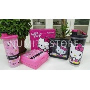 Tupperware HELLO KITTY Tumbler 2x750ml + Lunch Box Sandwich Keeper x 2