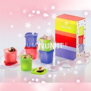 Tupperware Christmas Birthday Petit Square Round