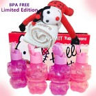 Tupperware Hello Kitty 4x425ml Eco Bottles + Limited Edition LadyBug Toy with Soft Tower