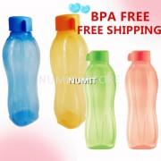 Tupperware Eco Bottle 2x750ml Blue Orange + 2x500ml Green Peach