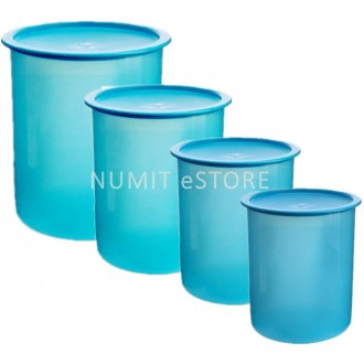 Tupperware One Touch Airtight Canister 4pcs Set by NUMIT