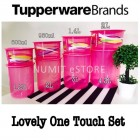 Tupperware Lovely One touch Airtight Canister Topper 8pcs set by NUMIT