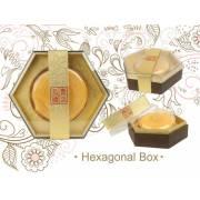 Small Half Leather Hexagonal Box