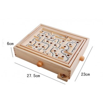 Educational Toy Gift Wooden Bead Maze Balance Ball