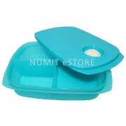 Tupperware Microwaveable Divided Lunch Box Tiffany Colour 1L