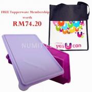 Tupperware Extra Large Snack Store Purple 1x3.6L + Kit Bag + FREE Membership