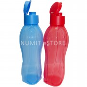 Tupperware Eco Bottle Flip Top Red and Blue 1L