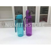 TUPPERWARE BOTTLES 1 Purple 1 Sea Green 750ML FLIP TOP H2GO COVER