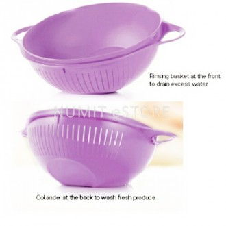 "Tupperware Multi Purpose Purple ""Brain Design"" Colander 1x3.75L (Total 1 pc ONLY)"