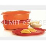 Tupperware Extra Large Orange Colour Fruits Oval Server 2X4L Set